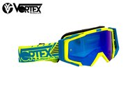 VORTEX VONE YELLOW NEON / BLUE CYAN FIRE-dirt-bike-store