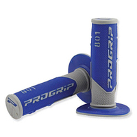 Progrip 801 rubber handles blue/grey -with gel--dirt-bike-store