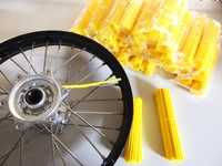 Skin yellow Spoke, 2 set of 38 x in length 216 and 190mm for front and rear-dirt-bike-store