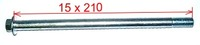 Axle 15 x 210mm-dirt-bike-store