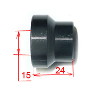 CNC wheel spacer 15 x 24mm-dirt-bike-store