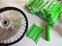Skin Spoke green, 2 sets of 38 pieces (8.5'' + 7.5'')-dirt-bike-store
