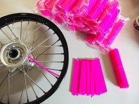 Skin Spoke pink, 2 set of 38x in length 216 and 190mm-dirt-bike-store