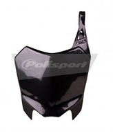 Black front plate POLISPORT for CRF110-dirt-bike-store