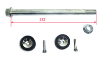 Motard wheel axle with rolls, 15 x 212mm-dirt-bike-store