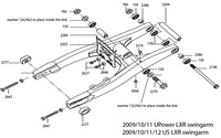 Parts list US-LXR swingarm 2009/10/11/12 PITSTERPRO-dirt-bike-store
