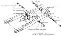 Parts list swingarm Pitsterpro LXR-UPower 2012-dirt-bike-store