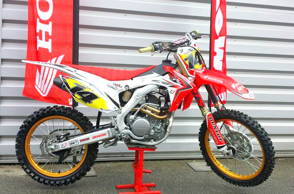 honda crf250 upower gold rim honda red frame 4629 pit. Black Bedroom Furniture Sets. Home Design Ideas