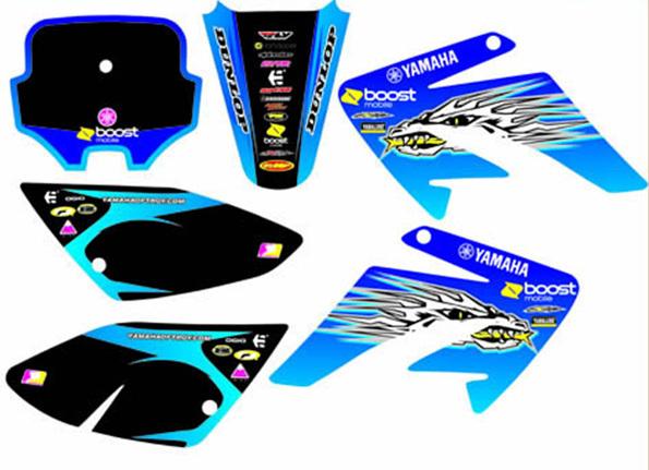 Stickers set yamaha plastic form dirt bike crf70 crf70 for 70 bike decoration