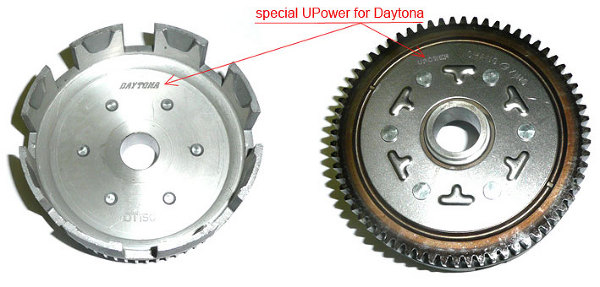Outer clutch Daytona 125 and 150-2V with damping rubber reinforced