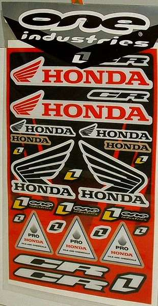 Stickers thick Honda One Industry 2007