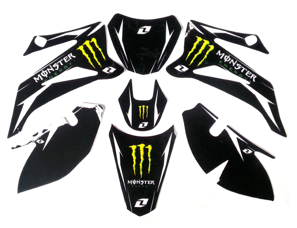 MONSTER stickers for plastic TTR110 style