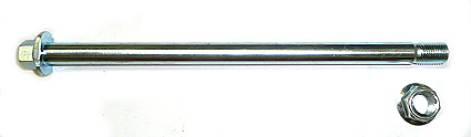 Axle M12 x 212 mm -with 2 plate on the head-