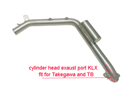 Exaust stainless pipe ARROW for LXR with cylinder head TB or Takegawa
