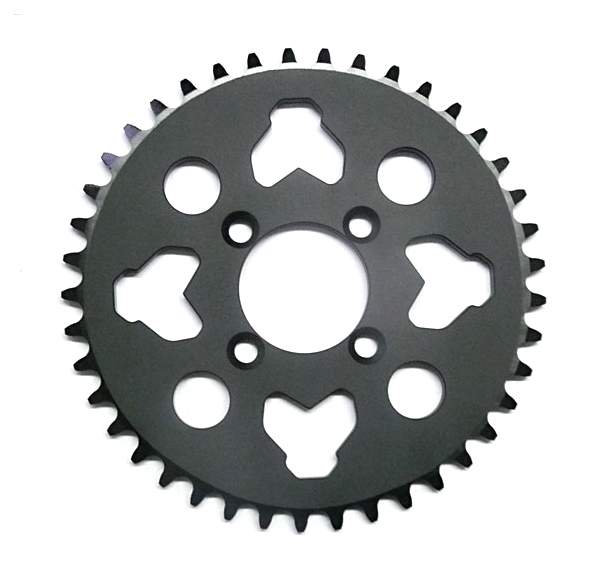 CNC aluminum sprocket 41 th, 420 chain, bore 46mm -reinforced for LXR2009/10/11-
