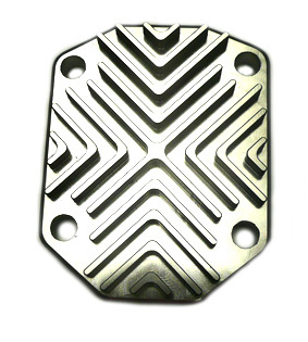 CNC cylinder head top cover silver