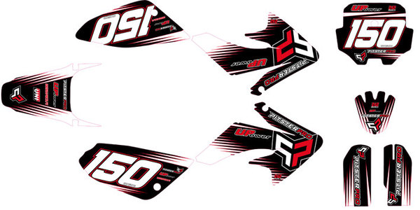 Stickers pitsterpro 2011 for plastic form crf70 decoration for 70 bike decoration