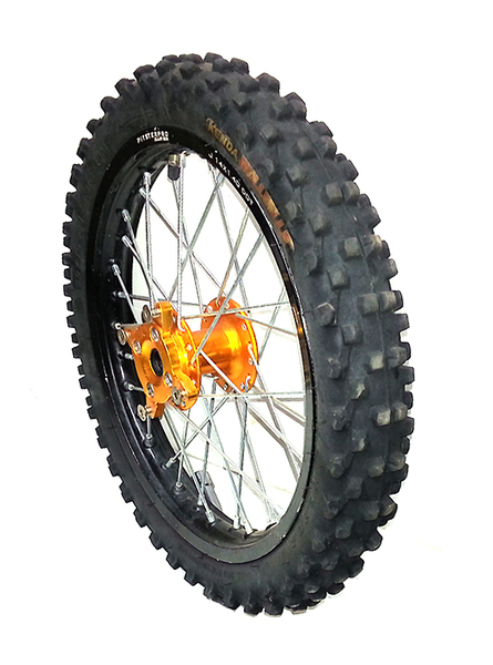 Front wheel 14'' LXR 2013 PITSTERPRO- used -with tire Kenda Millville-