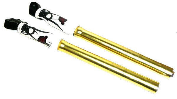 Pair gold 705mm fork in 48/48mm