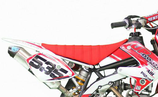 Seat cover 'striped' red for Bucci