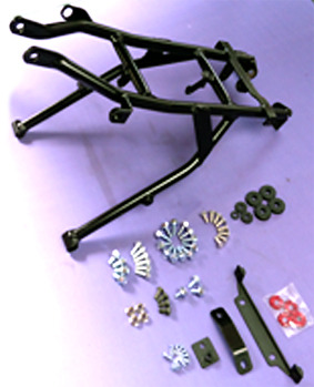 Rear subframe set to update an LXR to LXR-F with plastic CRF110 all year