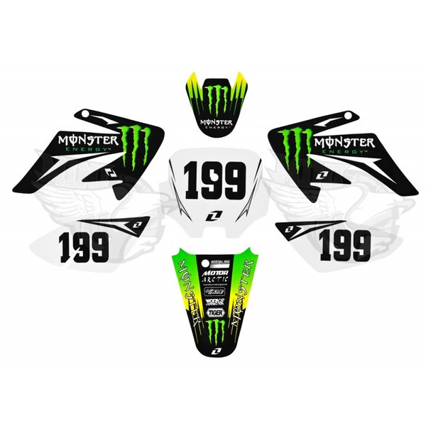 Stickers monster ii for plastic form dirt bike crf70 crf70 for 70 bike decoration