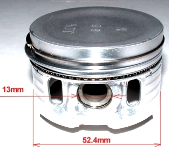 Piston, rings for Honda and Jialing YX-125-52.4mm