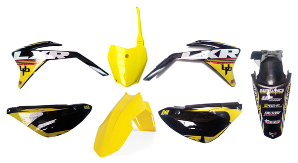 Plastic set PITSTERPRO LXR shorty with yellow stickers