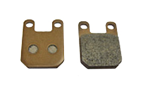 Metal brake pads -small- for single piston caliper