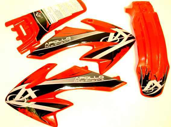 Set of red plastic type CRF50 Extension 5cm