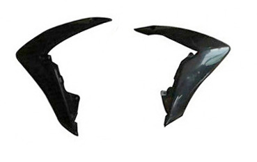 Black front side cover PITSTERPRO for CRF110 Polisport