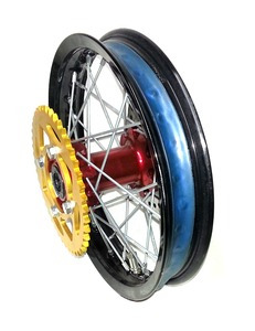 Rear wheel 12'' BUCCI MOTO F15 without tire, with disk and sprocket