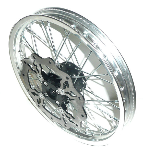 Front wheel 14'' LXR 2009 to 2011 PITSTERPRO -with brake disk-