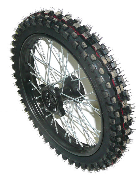 Front wheel 14'' axis 15, cross hubs, tire 60/100-14