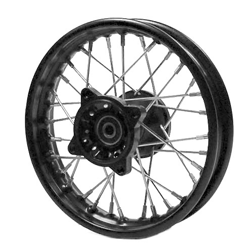 Front wheel 10'', steel rim, shaft 15, hub MX