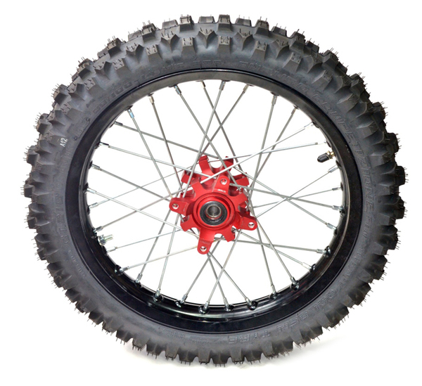 Front wheel 14'' black 2014 PITSTERPRO LXR -with tire Goldentyre GT216V-