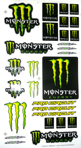 Stickers Universal Monster Energy 2009