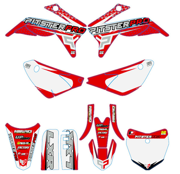 Plastic kit PITSTERPRO with LXR150RR 2014 graphics