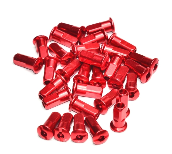 Spokes nuts CNC red (32 pieces)